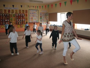 Hip-hop dancing was a big hit with the Senior Infants and 1st Class.