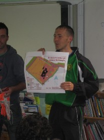 Darren Clarke shared some army skills with 6th Class during an orienteering session.