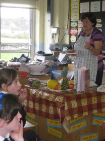 During the week 4th Class, under the direction of Mrs Cunnane prepared a meal using all fresh ingredients.