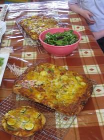 vegetarian pizzas...