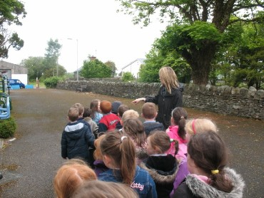 Junior Infants went for a walk to the railway park...