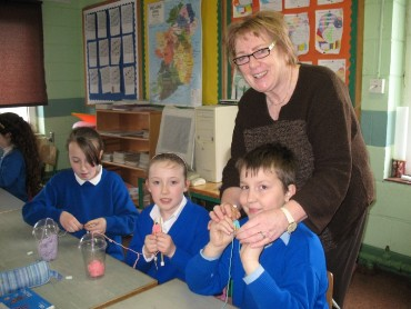 A knitting-circle has been set up in 3rd Class recently.