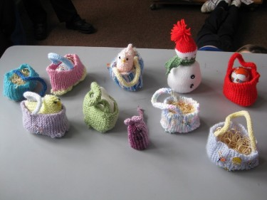 We really enjoyed the experience and as these photos show, we are making great progress with our knitting!