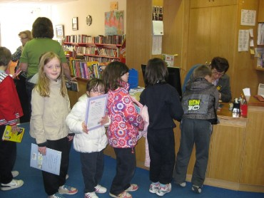 Some of us were already members and our teacher had arranged beforehand for the rest of the class to join the library.