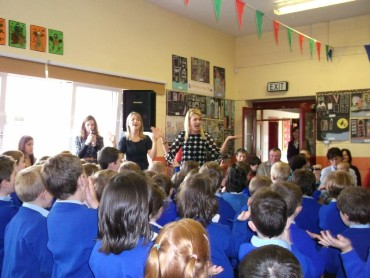 The pupils of St. Aidan's N.S entertained us all with a variety of song, poetry and music from each class grouping.