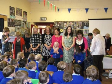 As Mrs Commons called on all the staff to line up, her parting words to the children were that she was leaving them in safe hands!