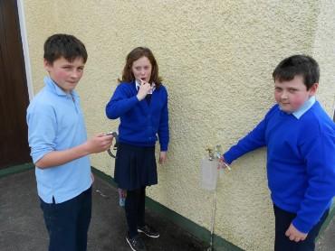 Sixth Class pupils conducted various water-saving experiments.