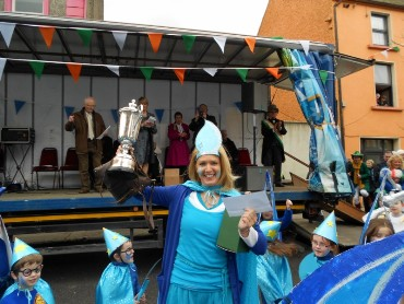 We were delighted to win the overall prize in the parade.