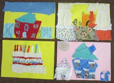 Fabric & Fibre Collage