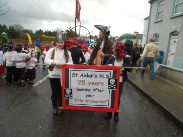 The theme of our float this year was St.Aidan's NS-25 years looking after your little treasures!