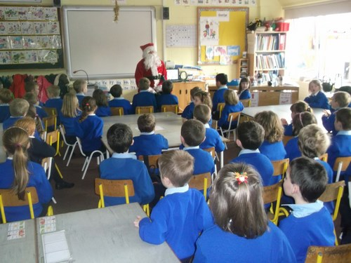 Santa talks to the children