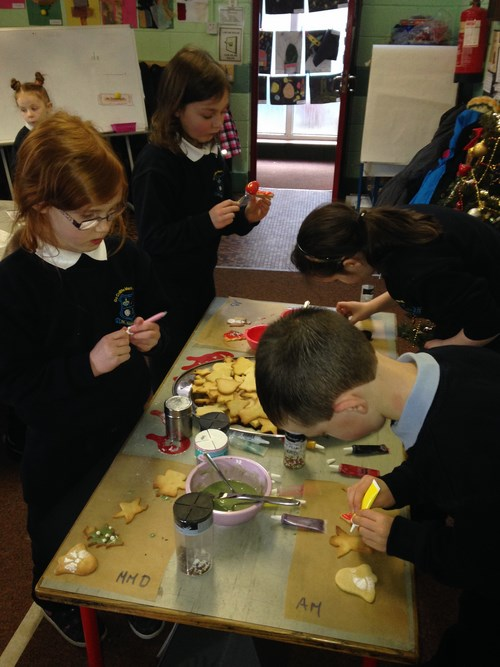 Christmas baking in 1st & 2nd Class