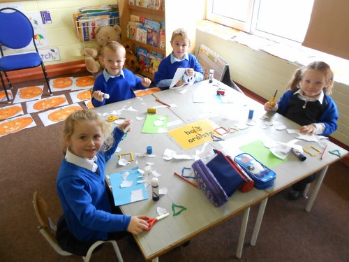 Junior Infants-tracing and cutting out 2d shapes