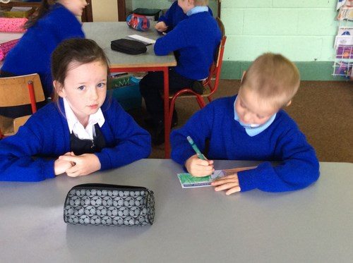 Illustrating our Number Hunt 1st Class