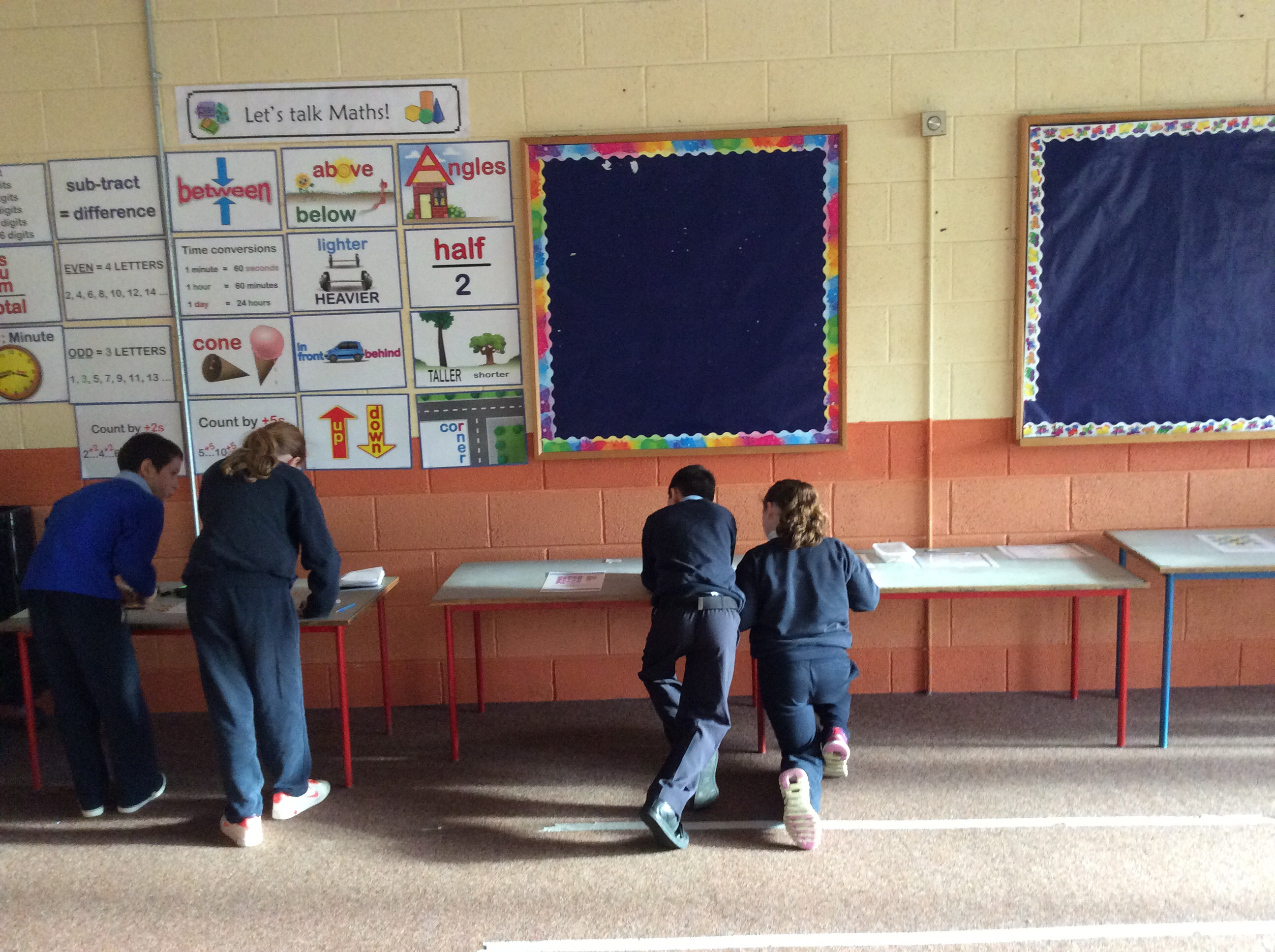 Fifth Class work on puzzles.
