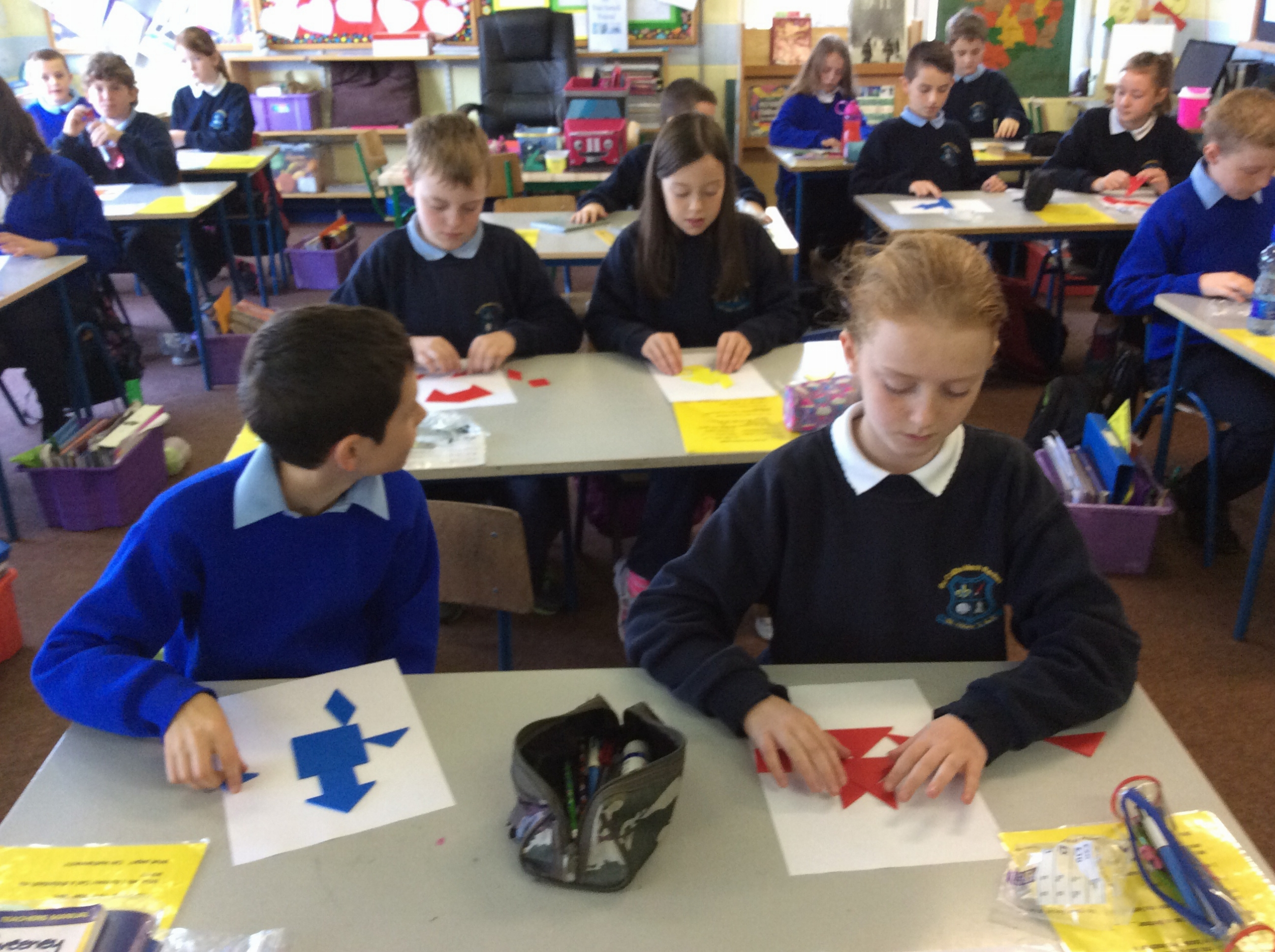 Working with tangrams