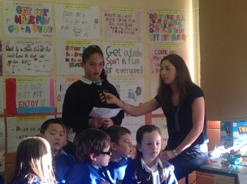 Each class spoke about their efforts.