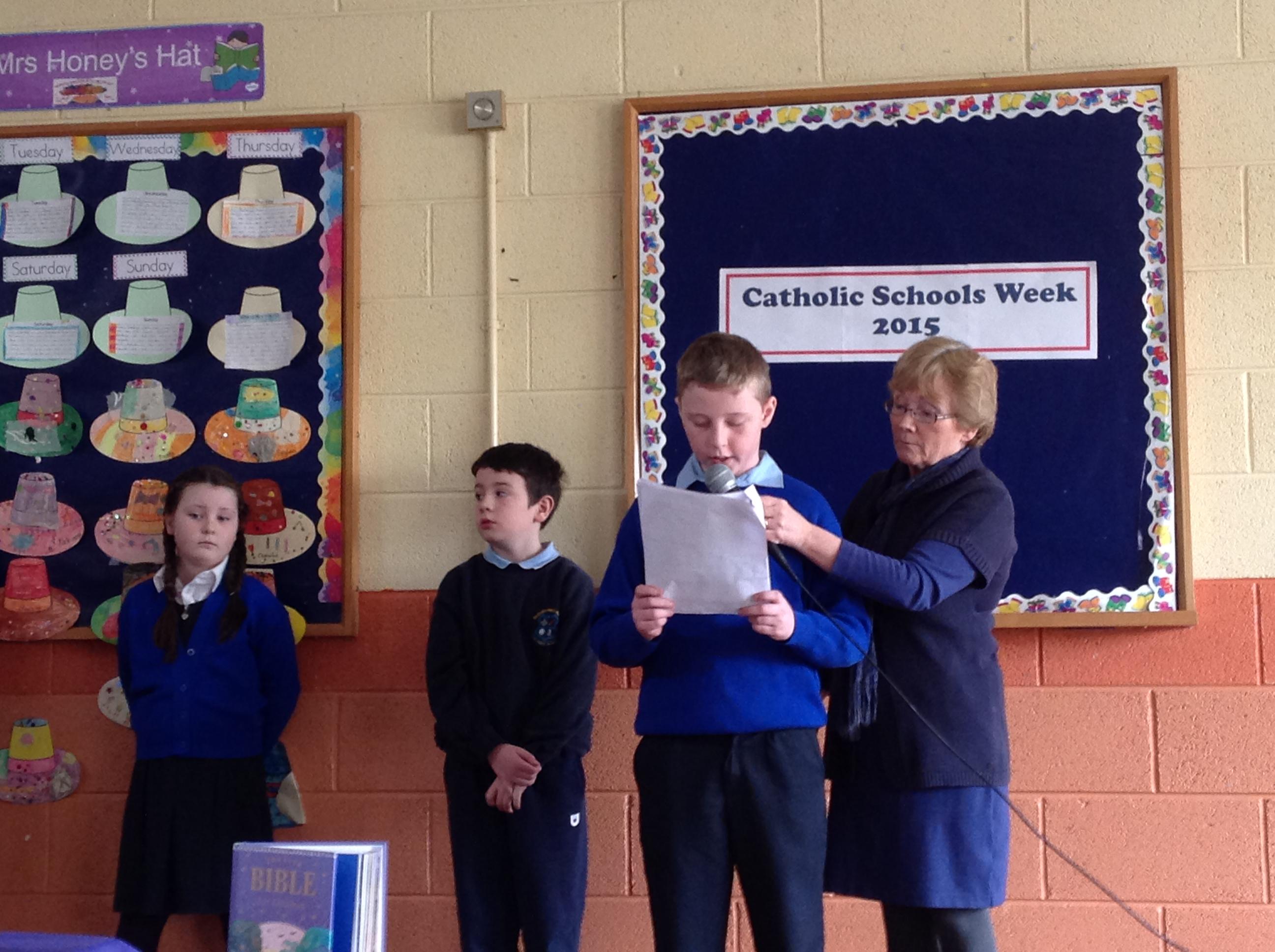 Prayer Service at begining of Catholic Schools Week