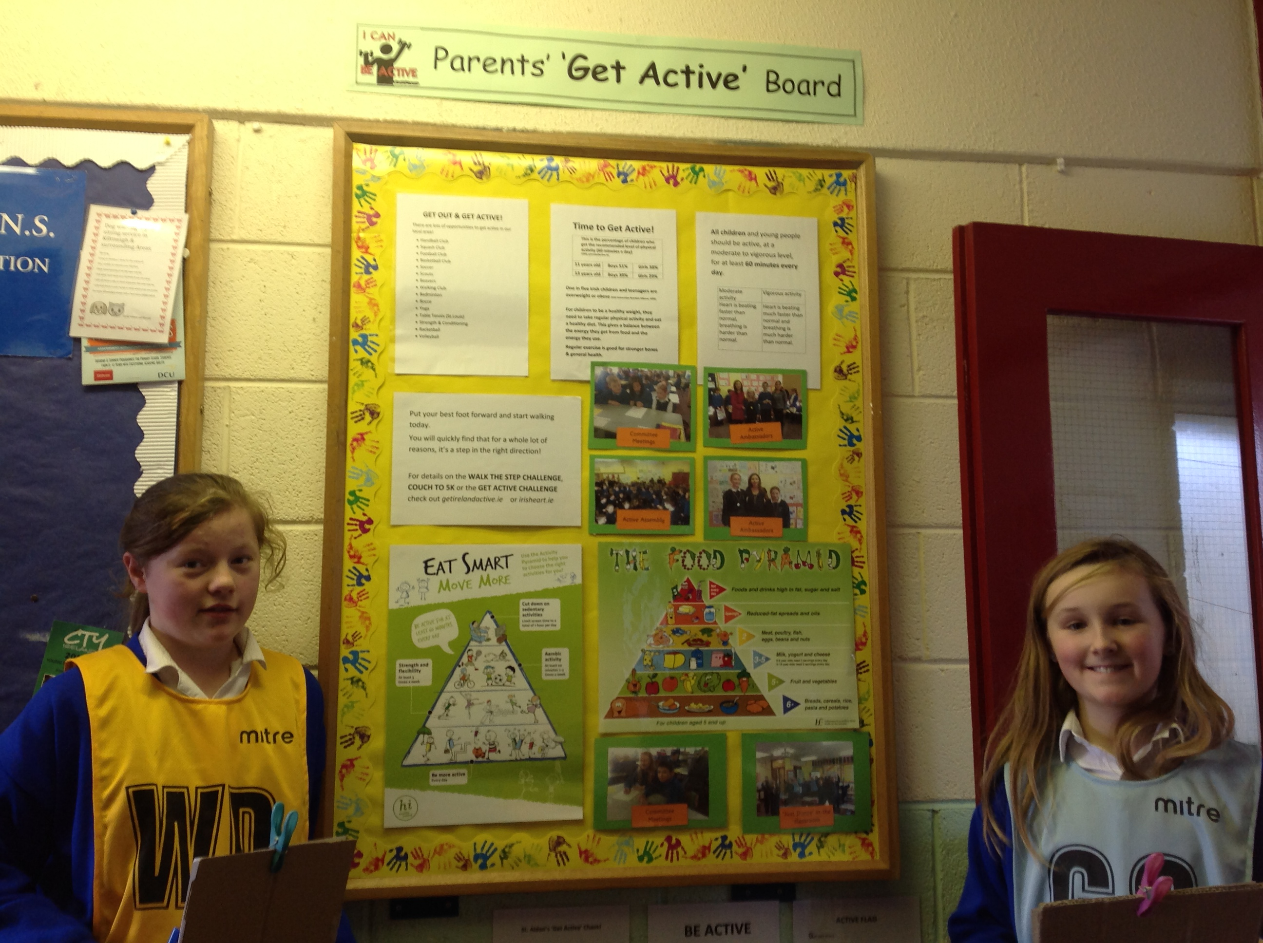 Our 'Parents, Get Active' display board