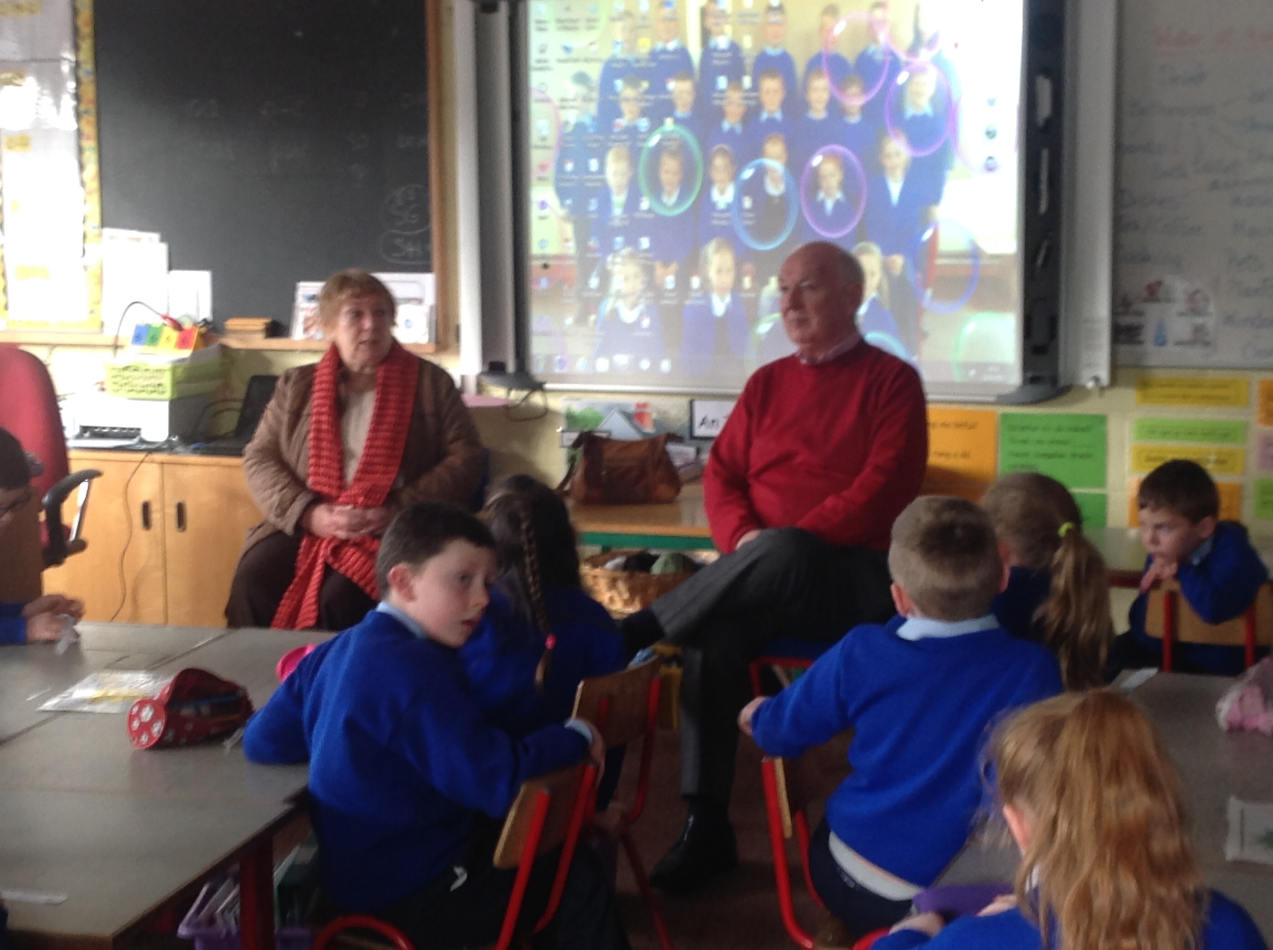 Helen and John talk about their time at school.