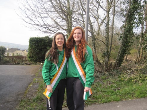 We were very proud of our past pupils, this year's all Ireland basketball champions who were the Grand Marshals in the parade.