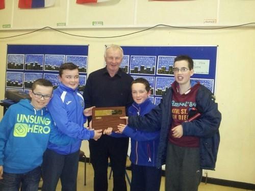 Winners of th Cumann na mBunScol Sports Quiz