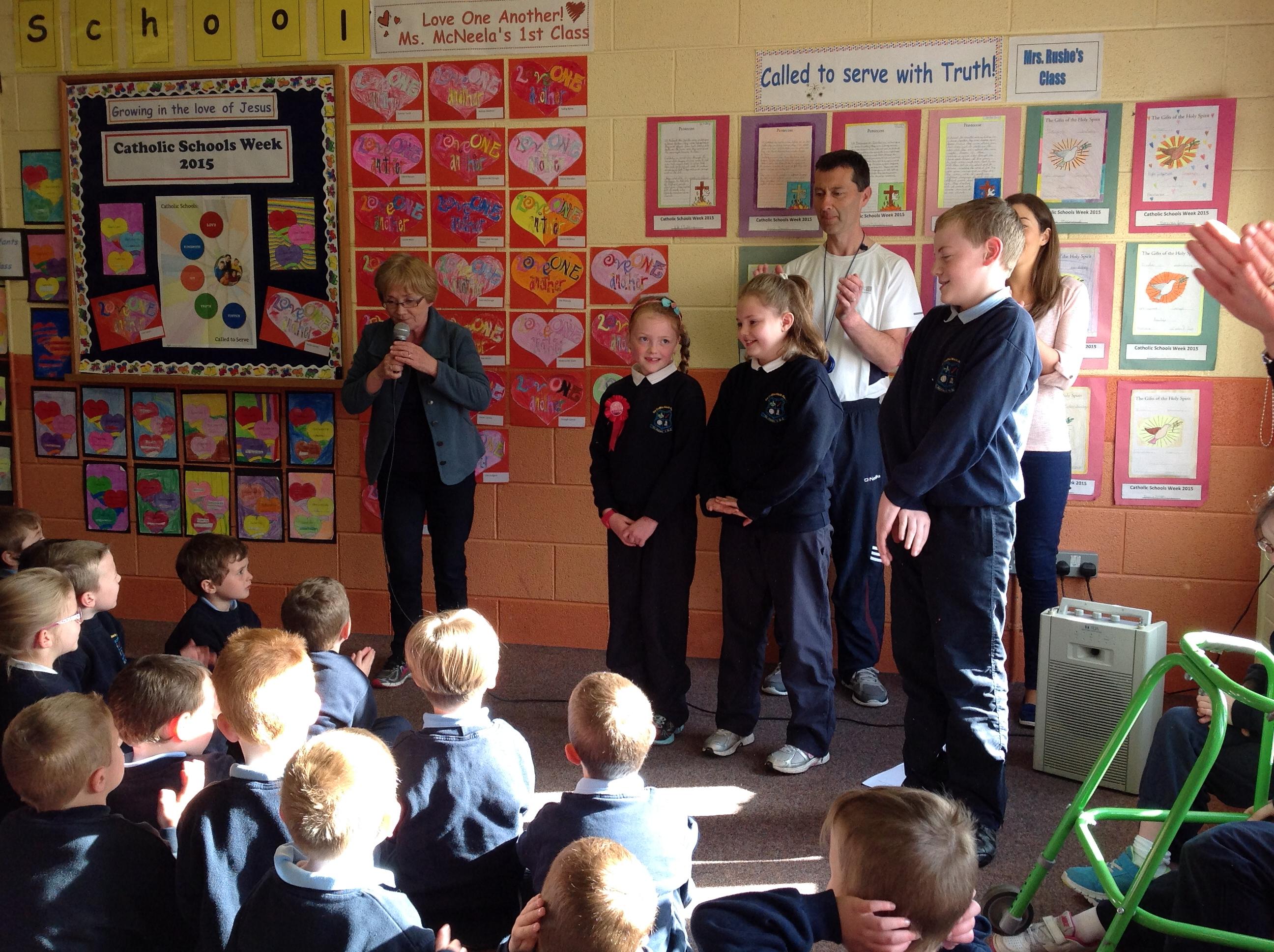 Three pupils celebrated their birthday today.
