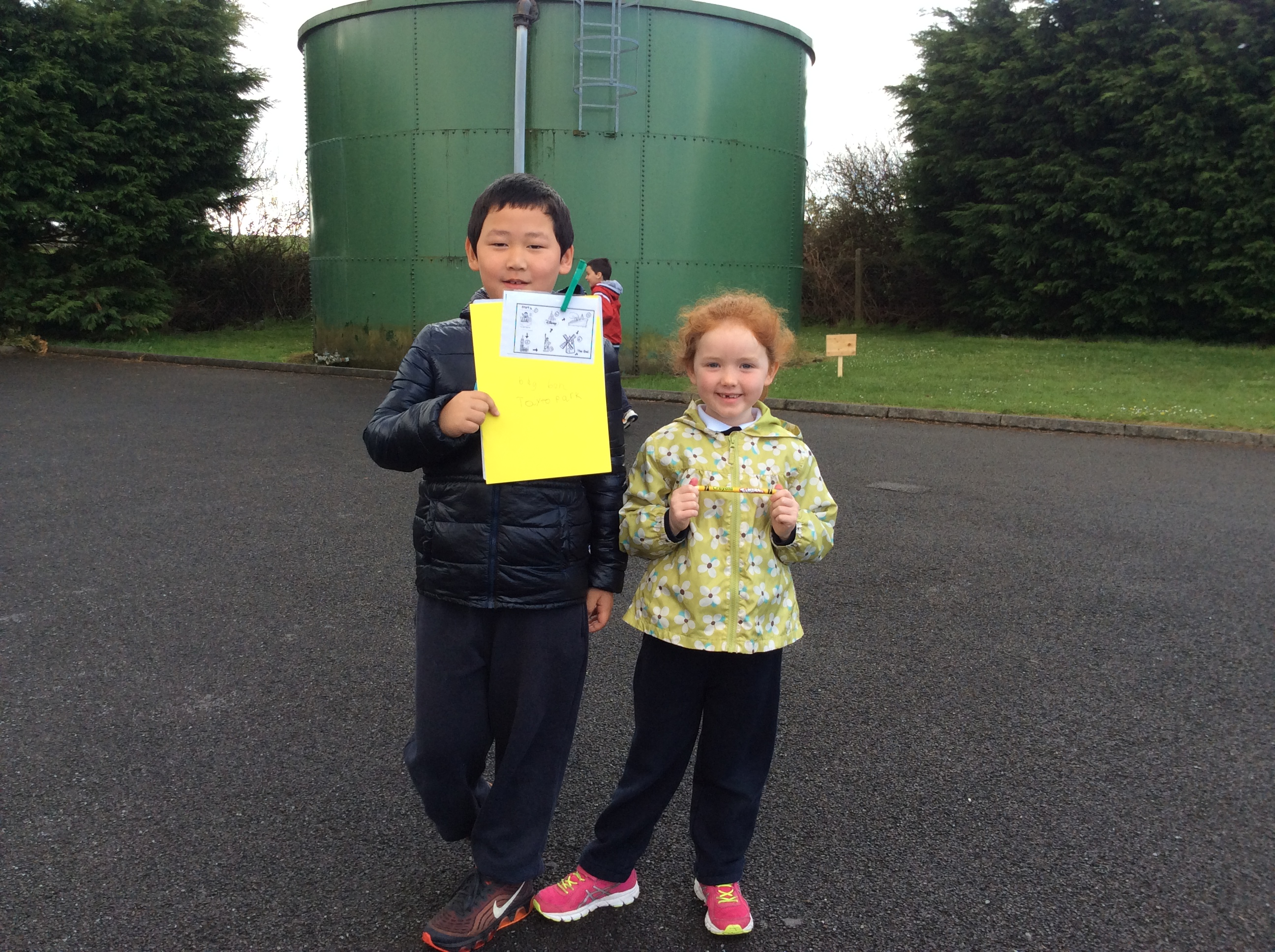 Orienteering with Senior Infants and 1st Class