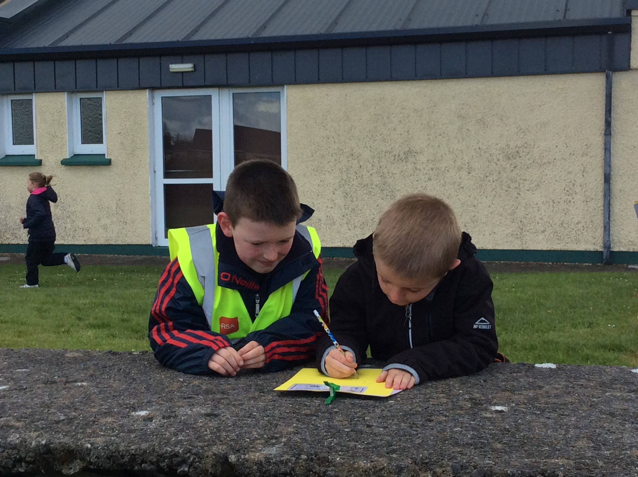 Orienteering with 1st Class and Senior Infants