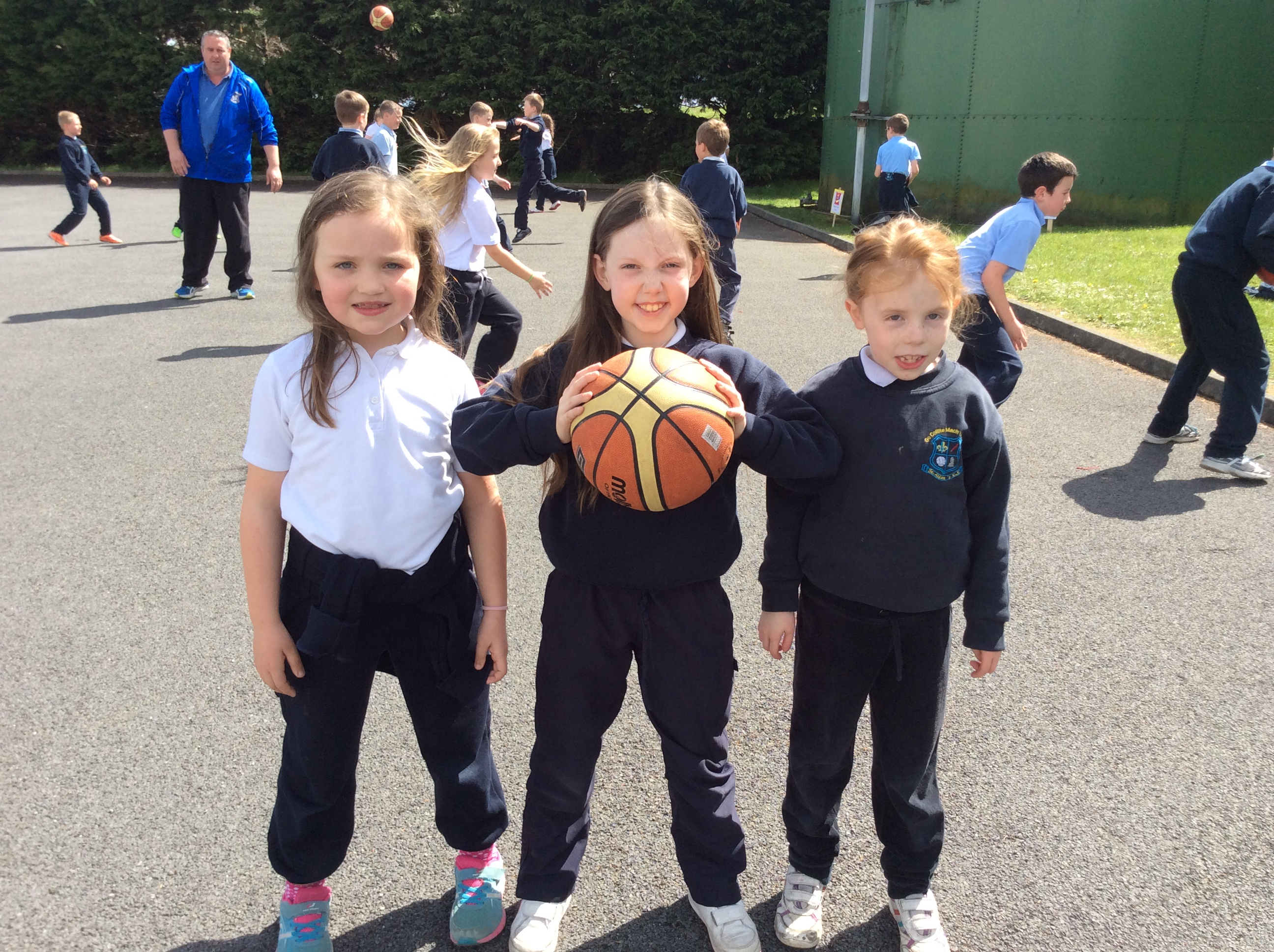 Basketball with 2nd class