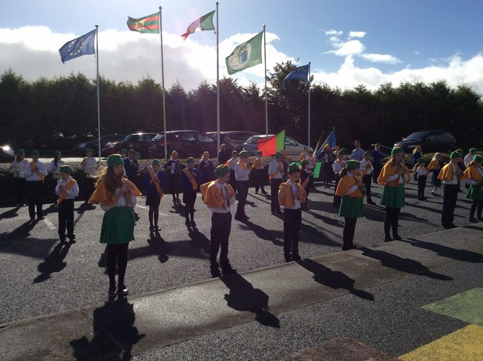 School Band welcomes members of the Defence Forces