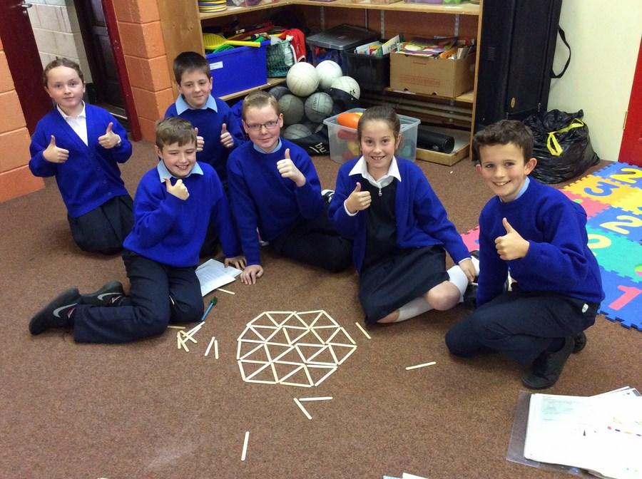 Exploring 2-d shape , 5th Class