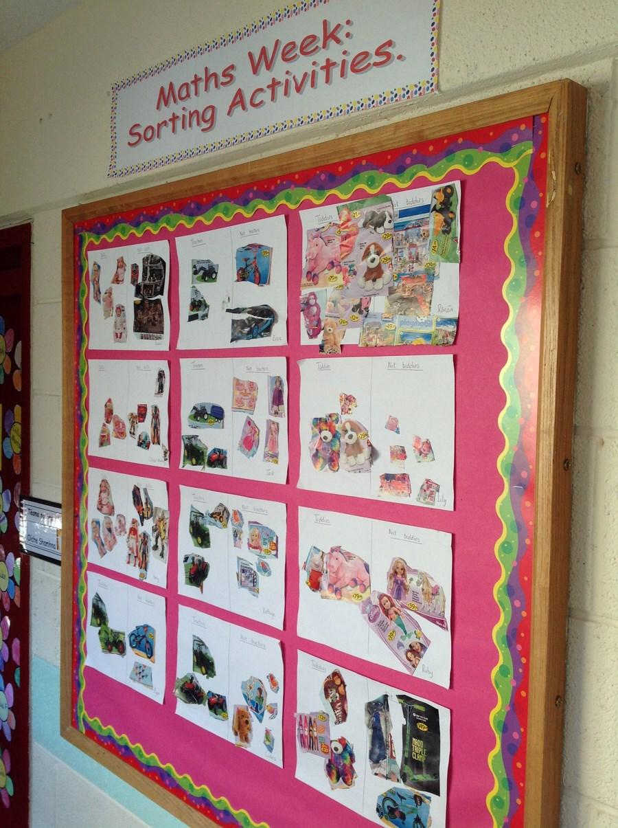 Junior Infants -sorting activities