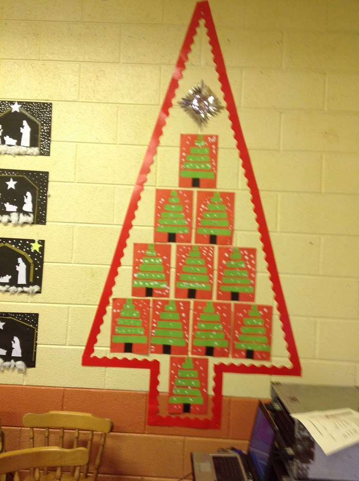 6th Class Christmas art