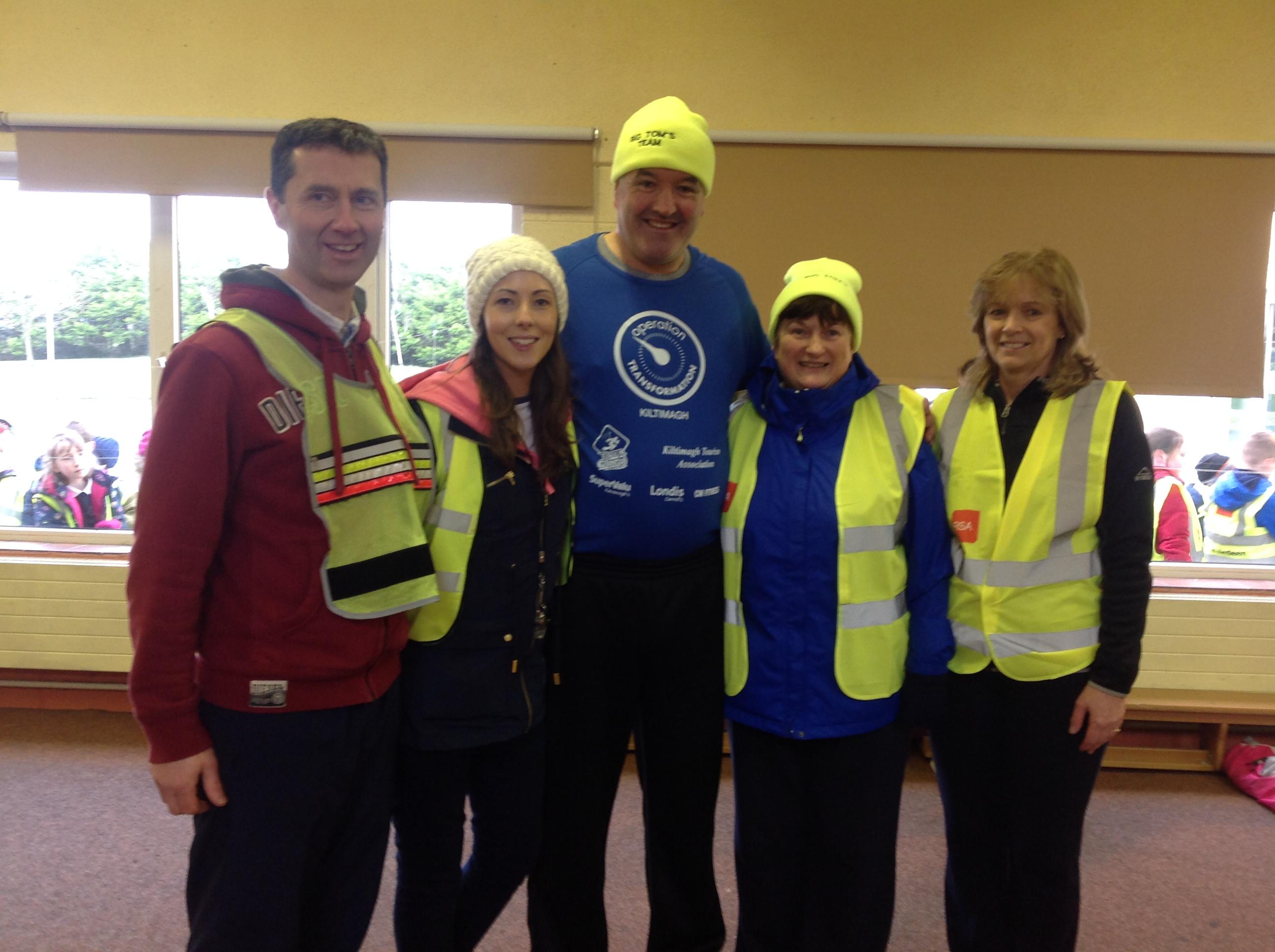 Operation Transformation Leader, Tom Byrne, and staff