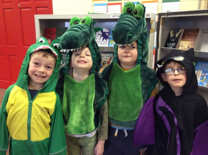 Dragons from 'Room on the Broom'
