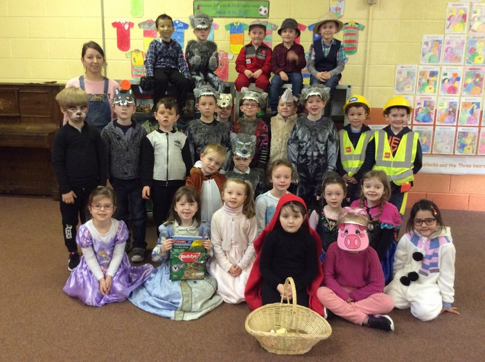 Senior Infants characters were based on 'The 3 Little Pigs'