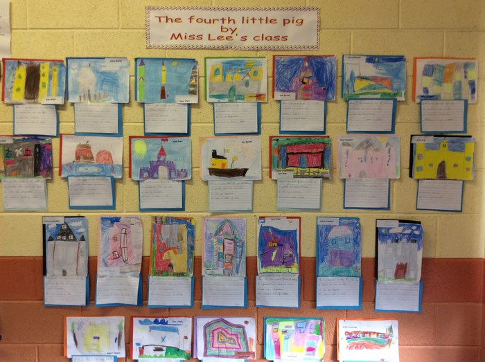 Ms Lee's class designed houses for the 4th Little Pig!