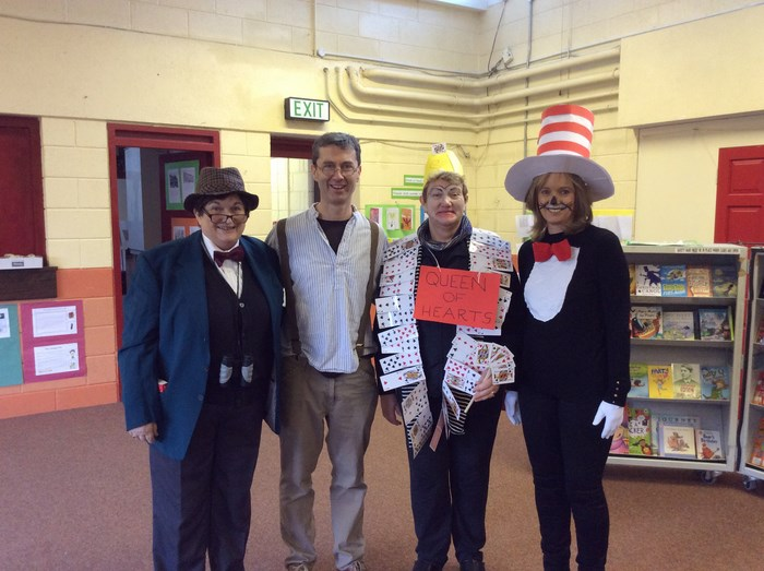 Mr Parker, The Shoemaker, Queen of Hearts and The Cat in the Hat