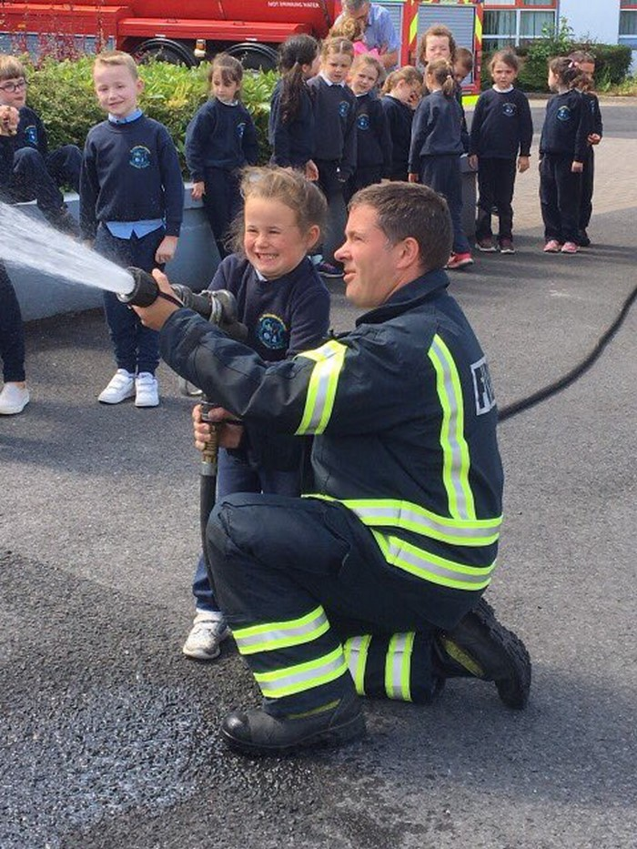 Senior Infants at Castlebar Fire Station